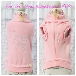 For Girl Bow Sweatshirt