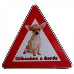 Adesivo Triangolo Chihuahua a Bordo