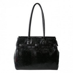Monaco Tote Embossed Croco Black
