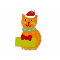 Santa Cat Ornament