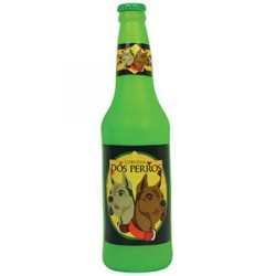Tuffy Silly Squeaker Beer Bottle Dos Perros