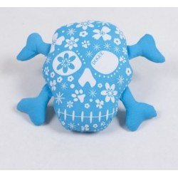 Dogue gioco toy Skull Blue/White