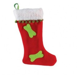 Fleece Stocking Dog