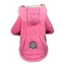 Crest Fleece Hoodie Pink
