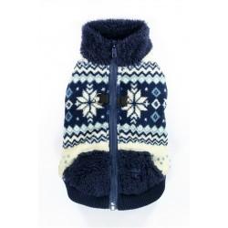 Navy Snowflake Fleece Vest
