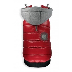 Sporty Puffer Vest Red