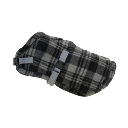 Tartan Wrap Coat Black
