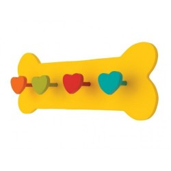 Yellow Bone Leash Holder