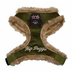 OLIVE FUR SKULL HARNESS
