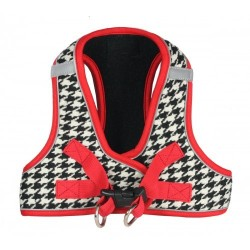 Houndstooth Black EZ Reflective Harness Vest