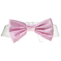 Shirt Collar Pink Satin