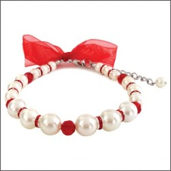 Satin Bow Pearl Necklace