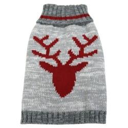 Heritage Sweater Cream/Red