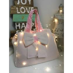 Mon Amour de Luxe Bag Pink Lana ed Angora