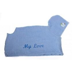 MICHI Accappatoio Azzurro My Love