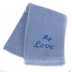 MICHI Asciugamano Azzurro My Love