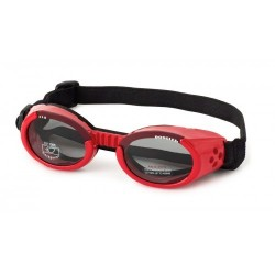 Occhiali DOGGLES ILS Shiny Red Frame/Smoke Lens