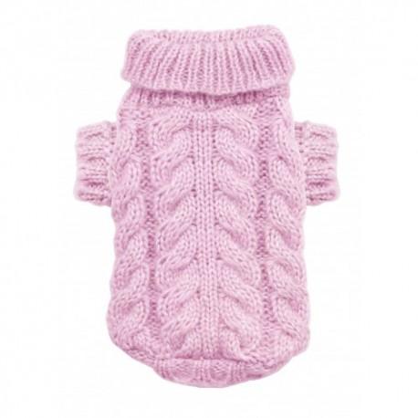 Angora Cable Knit Pink