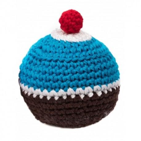 Gioco Crochet Cupcake Blu e Marrone