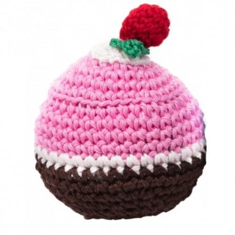 Gioco Crochet Cupcake Rosa e Marrone
