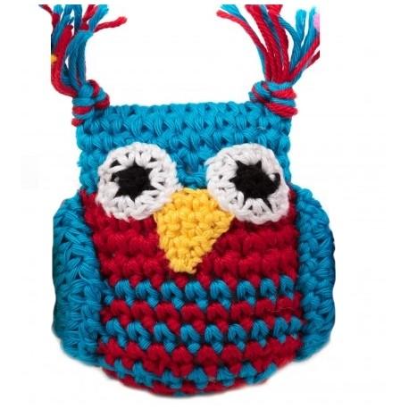 Gioco Crochet Gufo Blu e Rosso