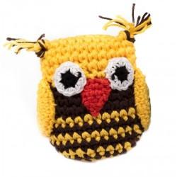 Gioco Crochet Gufo Giallo e Marrone