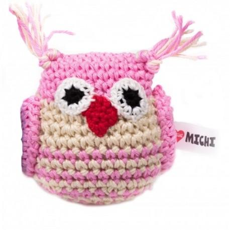 Gioco Crochet Gufo Rosa e Bianco