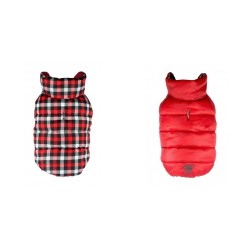Gingham Reversible Puffer Vest Red