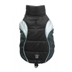 Wave Reflective Puffer Vest Black