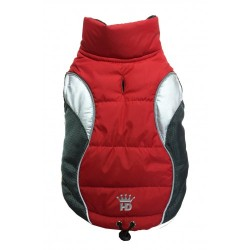 Wave Reflective Puffer Vest Red