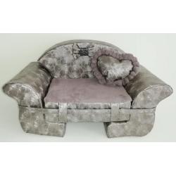 The Sofa Grey Flower + Heart