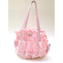 Paiette-Lace Net Bag Rosè