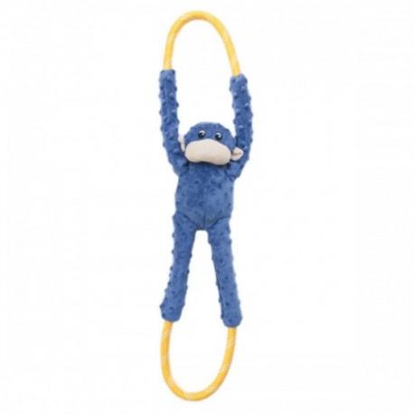 Gioco Zippy Paws Monkey RopeTugz - Blue