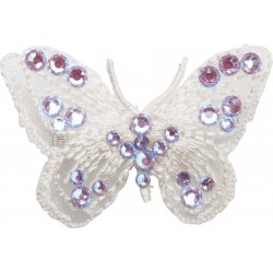 Hairclip Butterfly in black and pink