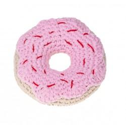 Gioco Crochet DONUT FRAGOLA TOY PINK STRAWBERRY DONUT