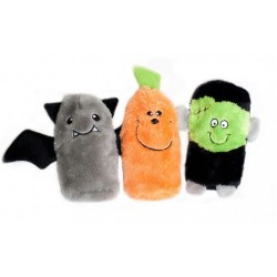 Gioco Zippy Paws Squeakie Buddies - Frankenstein, Pumpkin, Bat