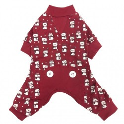 Pigiama DOG SNOWMAN PRINT PJ-RED