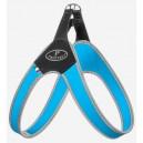 Pettorina Basic Clip Azzurro bordo reflex