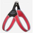 Pettorina Basic Clip Rosso bordo reflex
