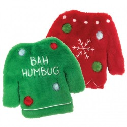 FUZZY STUFFLESS CRINKLE UGLY SWEATER TOYS