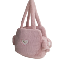 Sofficiosa eco fur Bag- Soft Pink