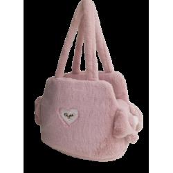 Sofficiosa eco fur Bag- Soft Pink