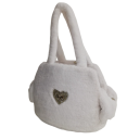 Sofficiosa eco fur Bag- White