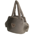 Sofficiosa eco fur Bag- Taupe