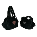 Sofficiosa eco fur Bag- Nero