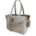 Heart Passenger Bag Rigid Croco+Taupe