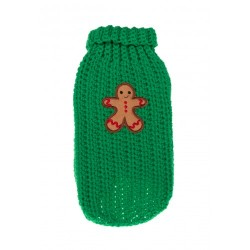 MICHI Maglione Xmas Sweater Gingerbread Green