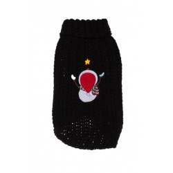 MICHI Maglione Xmas Sweater Snowman Black