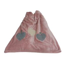 Hearts Blanket Pink