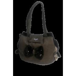 Bow-Swarovski-Bag Taupe